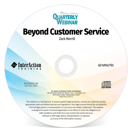 Beyond Customer Service Recorded Webinar by Zack Merrill