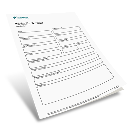 Training Plan Template FREE Form to Track Training Needs – Training Plan Template