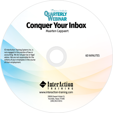 Conquer Your Inbox Webinar on CD-ROM