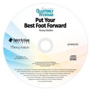 Put Your Best Foot Forward: The Training Institute Quarterly Webinar with Honey Shelton