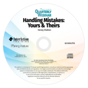 Handling Mistakes: Yours & Theirs - Recorded webinar about owning your mistakes