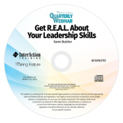 Get REAL about Your Leadership Skills - Training Institute Quarterly Webinar