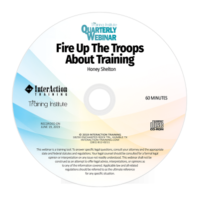 Fire Up The Troops About Training